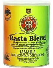 Reggie's Roast Jamaica Blue Mountain Rasta Blend Whole Bean Coffee, 12 Ounce Can