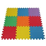 EVA Foam Soft Baby/Child Interlocking Multi-Coloured Activity Play Mat X 9 Tiles