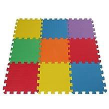 EVA Foam Soft Baby/Child Interlocking Multi-Coloured Activity Play Mat X 9 Tiles