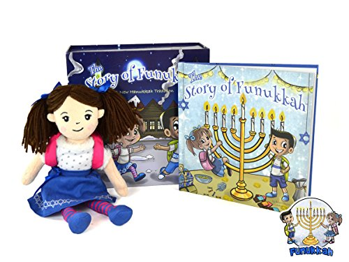 Funukkah Hanukkah Girl Doll and Illustrated Book