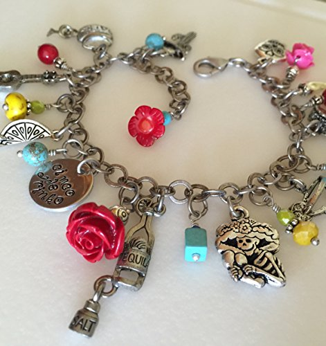 Margarita Charm Bracelet, Tequila Lover Bracelet, Cinco De Mayo, Day Of The Dead, Margarita Party Charms, Fiesta Bracelet (Tequila Rose Margarita)