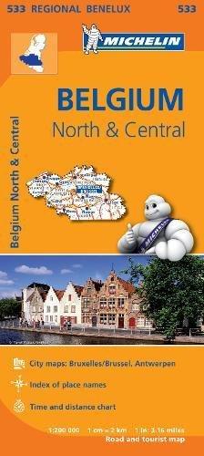 Belgium North & Central - Michelin Regional Map 533 (Michelin Regional Maps)
