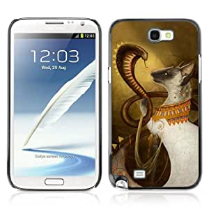 Designer Depo Hard Protection Case for Samsung Galaxy Note 2 N7100 / Cobra & Cat