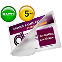 Matte Menu Laminating Pouches 12 x 18 (Pack of 100) 5 Mil Laminator Sleeves