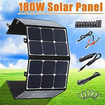SHIJING Portátil 180W 18V Panel Solar Plegable Cargador a ...