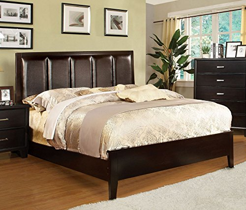 247SHOPATHOME Idf-7115EX-CK Bed-Frames, California King, Espresso