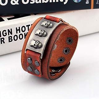 SHOUZ Braccialetto Jewelry Vintage Wide Punk Leather Leather Bracelet Men's Leather Bracelet