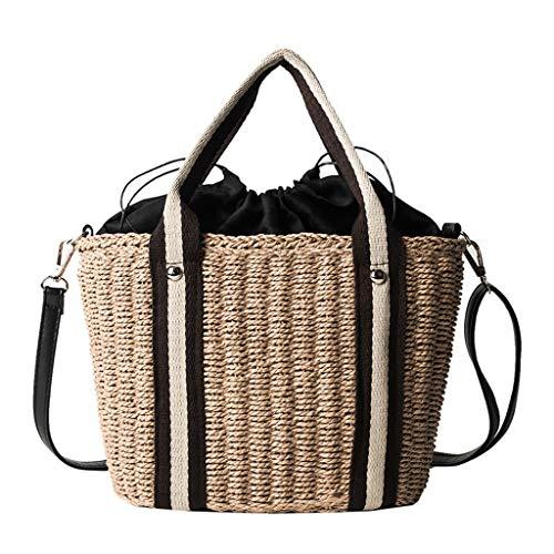 SUNyongsh Ladies Casual Handbag Fashion Beach Natural Wild Woven Wild Shoulder Bag Messenger Bag
