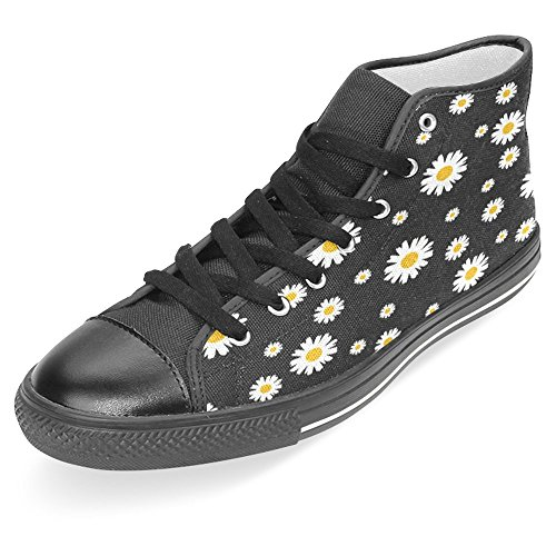 Interestprint Mujeres High Top Classic Casual Canvas Zapatos De Moda Entrenadores Lace Up Sneakers Flowers