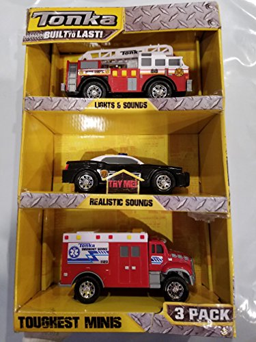 Tonka Toughest Minis 3 pack emergency response for sale  Delivered anywhere in USA