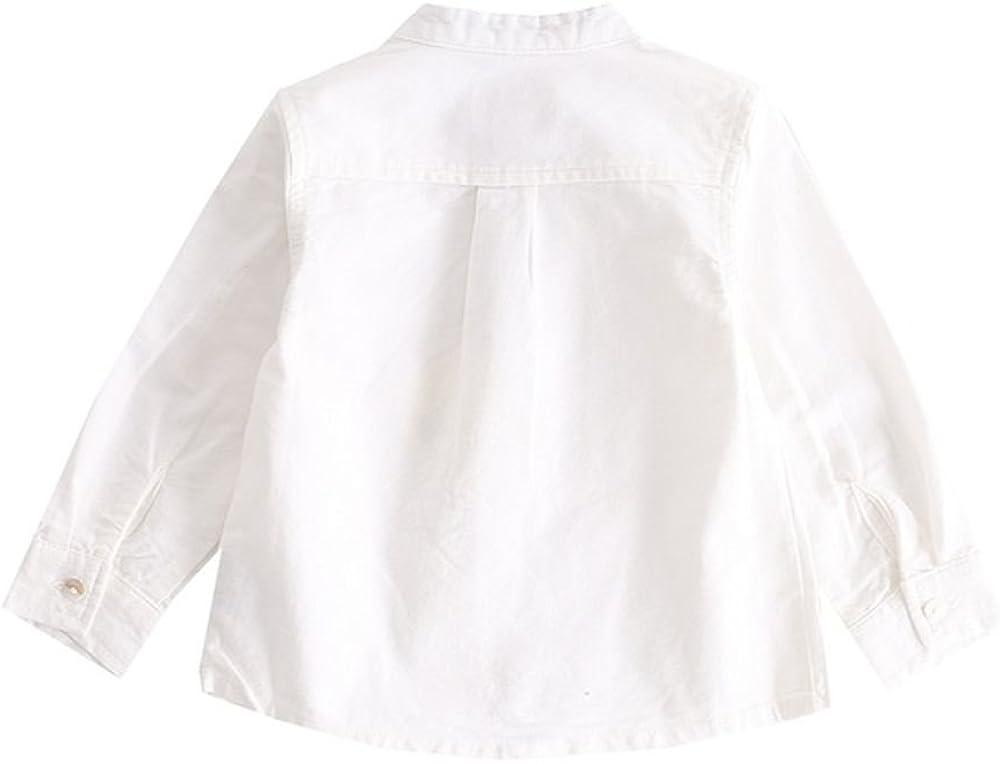 NEWNESS Camisa Blanca Buhó Bebe Niño 6-24 Meses: Amazon.es: Ropa y accesorios