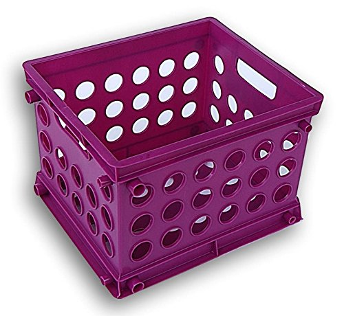 Sterilite Storage Organization Basket (Purple Berry,)