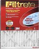 comfort air furnace - 3M Filtrete Allergen Defense Furnace Filter 16x20x1 1000MPR