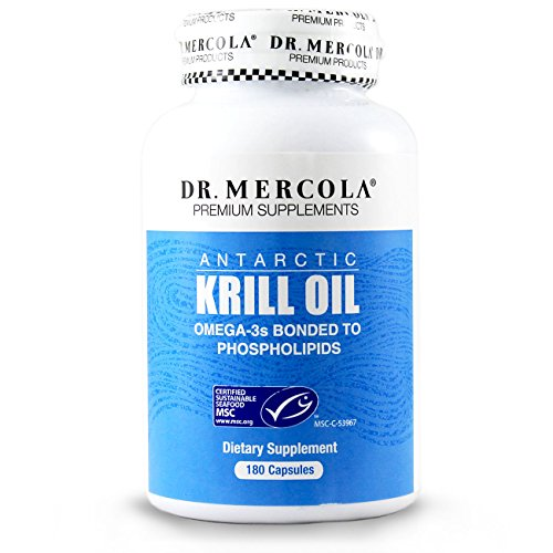 DR MERCOLA Krill Oil Capsules, 180 Count, 90 Servings