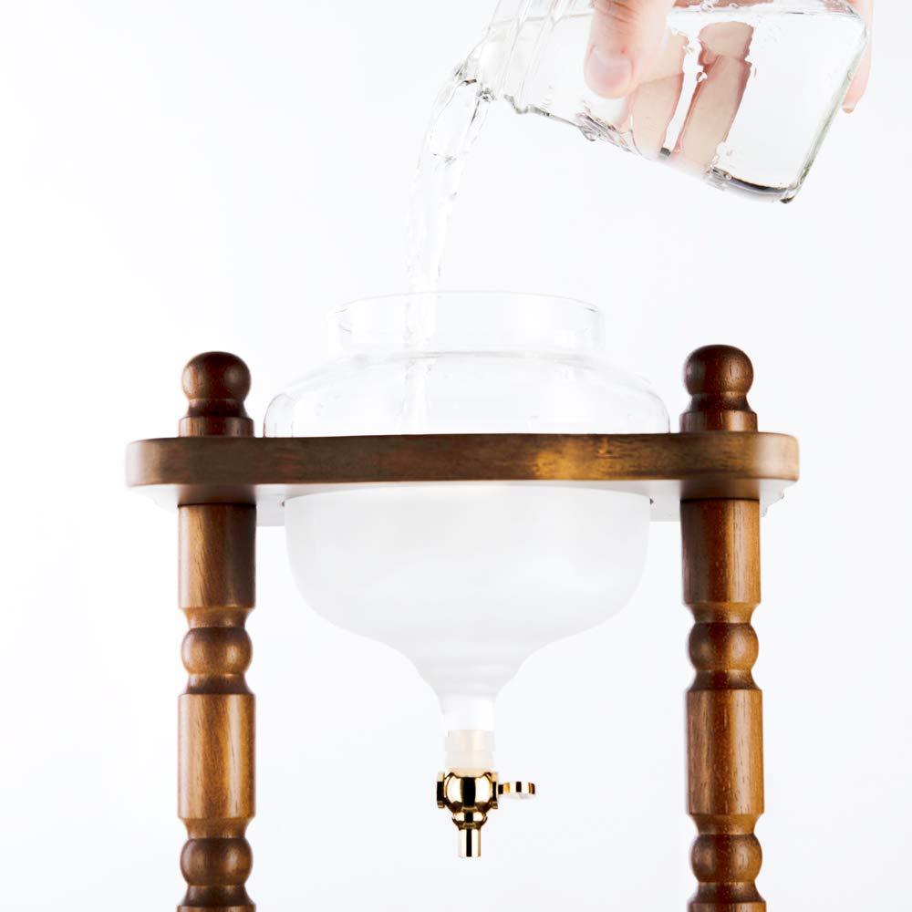YAMA Glass YAMCDM8CBR, Brown Frame Cold Brew Drip Coffee Maker, 6-8 cup by Yama Glass (Image #6)
