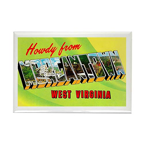 CafePress Morgantown West Virginia Greetings Rectangle Magne Rectangle Magnet, 2