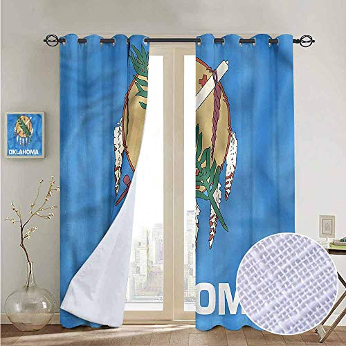 - NUOMANAN Pattern Curtains American,Native Americans Oklahoma,Living Room and Bedroom Multicolor Printed Curtain Sets 100