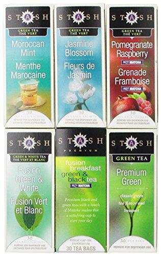 Stash Tea Display Rack Refill for 6 Flavors, 30 Count Tea Bags in Foil