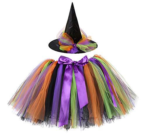 Tutu Dreams Halloween Costume for Women Black Orange Purple (Free Size, Halloween-2)