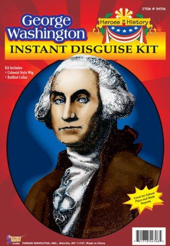 Kids George Washington Costumes Kit (Forum George Washington Instant Disguise Kit)