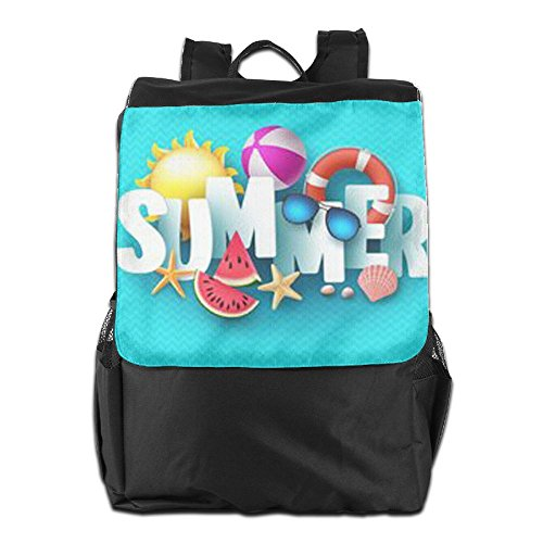 Camping Colorful Women and Strap Men Shoulder School Outdoors Storage Travel Adjustable For Summer Backpack Personalized Dayback HSVCUY Time Enjoy qwaT0Ix