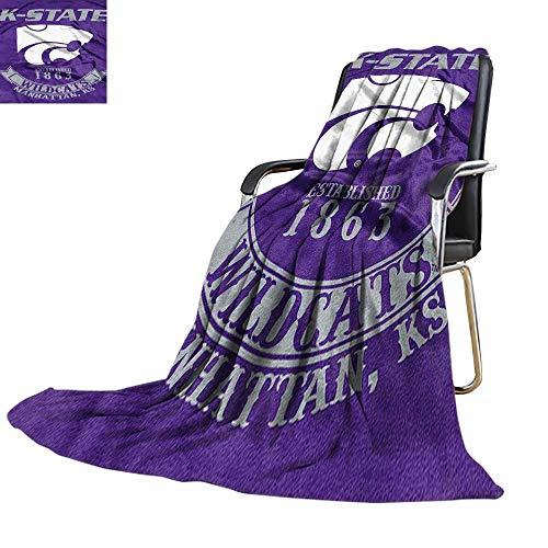 (Velvet Touch Ultra Plush,Officially Licensed NCAA Kansas State Wildcats Printed Fleece Throw Blanket 50
