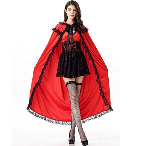 Boleyn Little Red Riding Hood Costume Sexy Halloween Fairy Tale Dress for -
