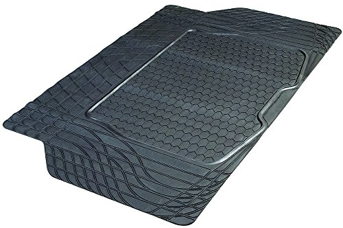 Armor All 78919 Heavy-Duty Rubber Trunk Cargo Liner Floor Mat Trim-to-Fit for Car, SUV, Van and Trucks, Black