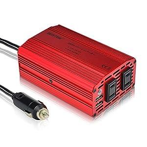 BESTEK インバーター 300W 定格出力 DC12V to AC100V  シガーソケット充電器 車載電源 MRI3010BU