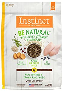 Instinct Be Natural Real Chicken & Brown Rice Recipe Natural Dry Dog Food by Nature's Variety, 25 lb. Bag