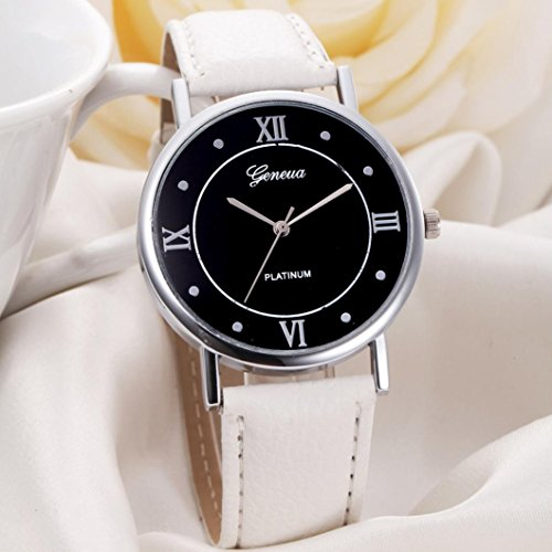 Malloom BEST Valentine Gift Women Girl Leather Band Quartz Watches Dress Wris...