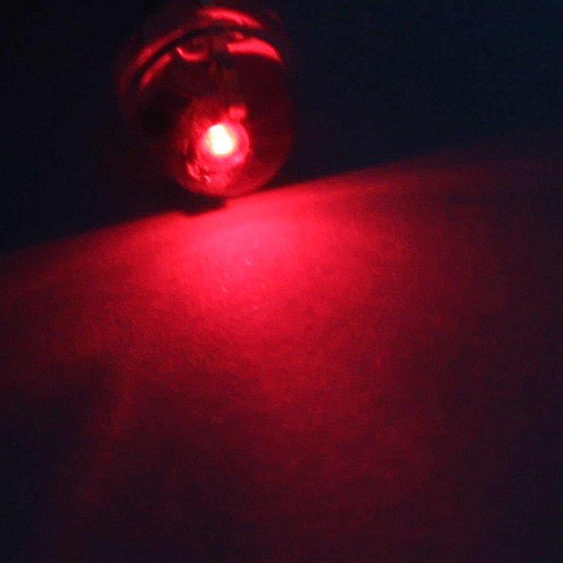 eDealMax 1000 Pcs 2 Bornes 5mm Transparent Chapeau de Paille LED Rouge diodes électroluminescentes