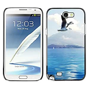 Hot Style Cell Phone PC Hard Case Cover // M00100419 in seagulls switzerland animals // Samsung Galaxy Note 2 II N7100