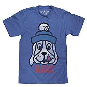 Tee Luv Slush Puppie T-Shirt - Blue Slush Puppie Logo Shirt (Large)  Heather Blue