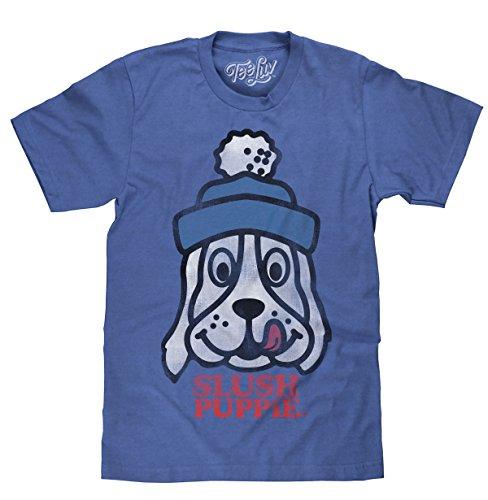 - Tee Luv Slush Puppie T-Shirt - Blue Slush Puppie Logo Shirt (Small)