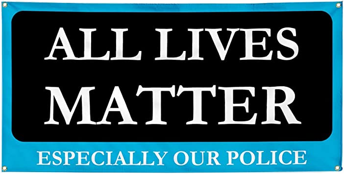 Amazon Com Vinyl Banner Multiple Sizes All Lives Matter Especially Our Police Profession Outdoor Weatherproof Industrial Yard Signs Black 4 Grommets 24x36inches Office Products