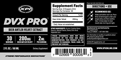 XPI-DVXPro Liquid - Enhance Your Muscles - Improve Strength & Muscular Build, Reduce Recovery Time, Reduce Injury
