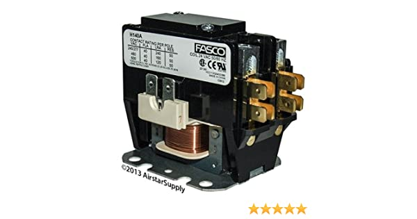 ICP /• 40 Amp 1 Pole 24v Coil Fasco Replacement Contactor H140A