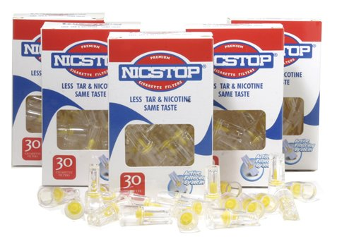 NICSTOP Cigarette Filters, 150 Filters by NICSTOP