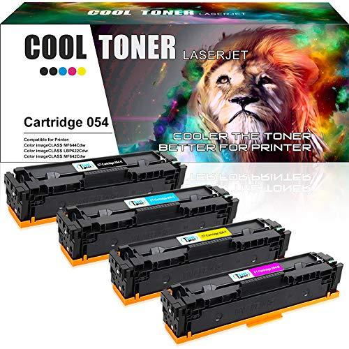 Cool Toner Compatible Toner Cartridge Replacement for Canon 054 054H Cartridge 054 CRG-054 Toner for Canon Color ImageClass MF644Cdw MF642Cdw MF640C LBP622Cdw LBP620 Printer (K,C,Y,M, 4 Packs)