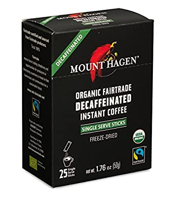 Mount Hagen Organic Decaffeinated Instant Coffee Single Serve from Mount Hagen