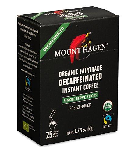 (Mount Hagen Organic Decaffeinated Instant Coffee Single Serve 25 Sticks (Pack of 2))