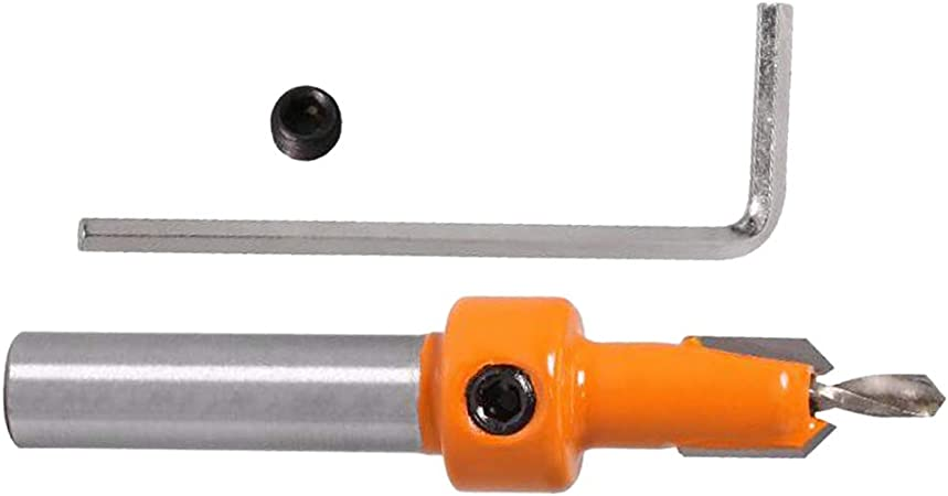 LOVIVER Fraises D/éfonceuse 8mm Fraise Droite M/étrique pour Percer des Trous en Bois 2.8mmx8mm
