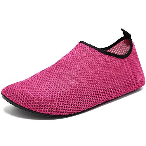 CIOR Männer und Frauen Barfuß Haut Aqua Schuhe Rutschfeste Multifunktionale Wasserschuhe Für Strand Pool Surf Yoga Übung Red01