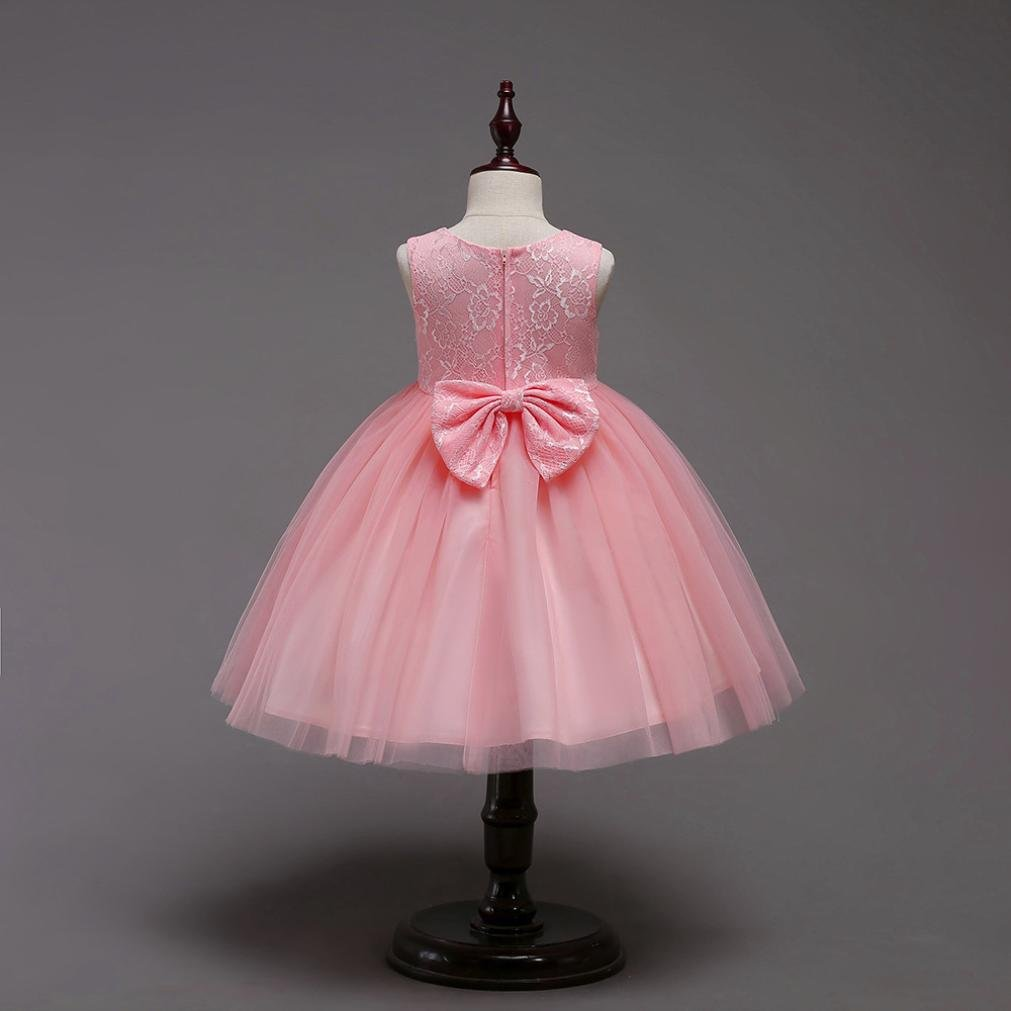 kaiCran Girls Dress Fashion Baby Girl Princess Sleeveless Bridesmaid Pageant Gown Birthday Party Wedding Dress