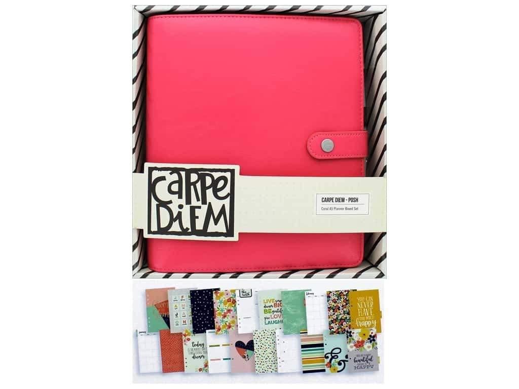 A5 Simple Stories Carpe Diem Corail Posh Planner en bo/îte Rose