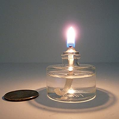 Firefly Refillable, Clear Glass Unscented Tealight Candles - 5 Pack - Bulk - Long Lasting Tea Lights - Cotton Wick and Holder Included