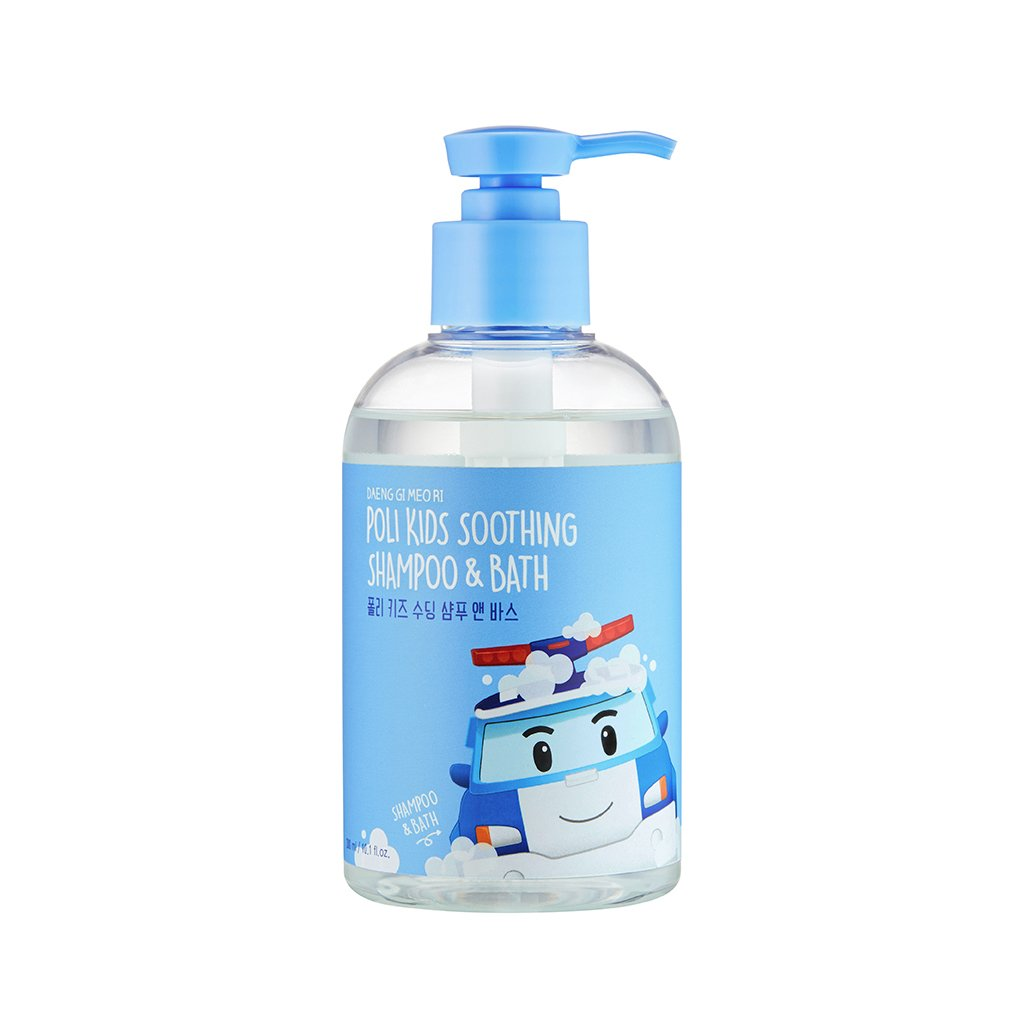 [DAENG GI MEO RI] Poli Kids Soothing Shampoo & Bath 300ml (Robocar Poli) - 2 in 1 Hair & Body Bubble Cleanser, Natural Ingredients for Sensitive Skin