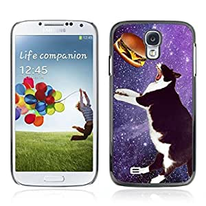 Colorful Printed Hard Protective Back Case Cover Shell Skin for Samsung Galaxy S4 IV (I9500 / I9505 / I9505G) / SGH-i337 ( LOL Meme Space Cat )