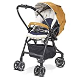 Baby Stroller for Newborn and Toddler - Convertible Bassinet Stroller Compact Single Baby Carriage Toddler Seat Stroller Luxury Pram Stroller Can sit and Lie high Landscape